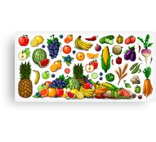 Fruits and Vegetables. Canvas Print