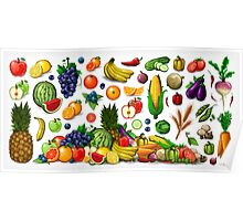 Fruits and Vegetables. Poster