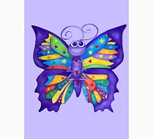 Yoga Butterfly in Namaste (purple background) Unisex T-Shirt