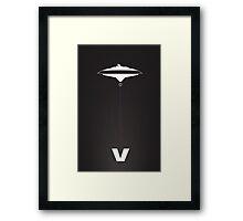 Star Wars V minimalist Framed Print