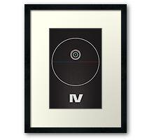 Star Wars IV minimalist Framed Print