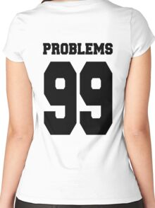 Problems 99 Baseball Shirt Women's Fitted Scoop T-Shirt