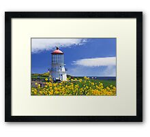 Springtime Lighthouse Framed Print