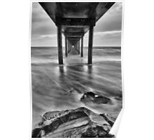 Brighton Jetty B&W Poster