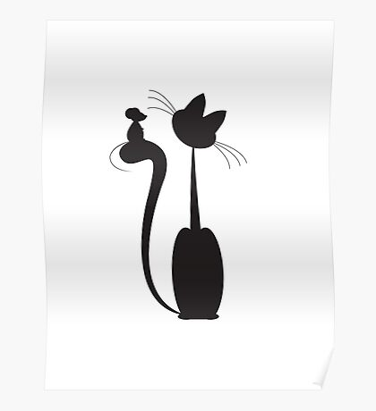 Cat and mouse Poster