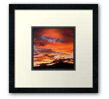 ©HCS The Ray in Red Sunset Framed Print