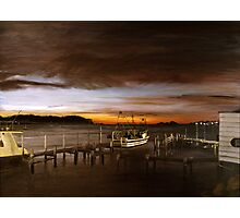 Behind the boatshed Photographic Print