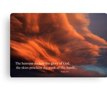 Psalm 19:1 Canvas Print