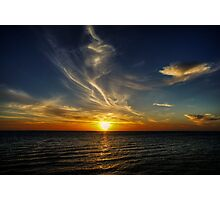 Black Rock Sunset Photographic Print