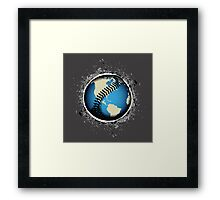 It's A Baseball World Framed Print