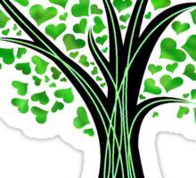 Heart Tree - Tree of Life in green Sticker