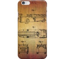 Grybos Vintage Fire Truck Patent From 1940 iPhone Case/Skin