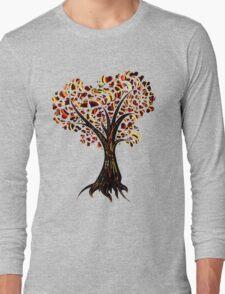 Heart Tree - Fall in swirls Long Sleeve T-Shirt