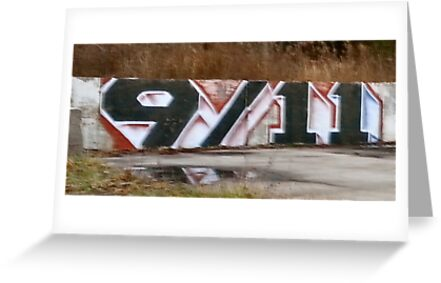 9/11 Truth graffiti art by C.C. Arshagra