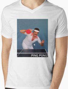 Ron Burgundy Pongs Mens V-Neck T-Shirt