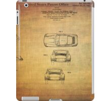 Ferdinand Porshe Patent For Carrera 911 From 1964 iPad Case/Skin