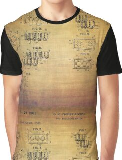 Lego Blocks Patent from 1961 Graphic T-Shirt