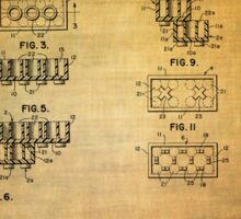 Lego Blocks Patent from 1961 Sticker
