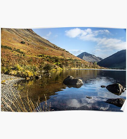 Scafell Pike from Wastwater Poster