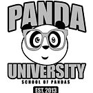 Panda University - Grey by Adamzworld