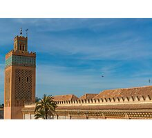 A Moroccan Mosque  Photographic Print