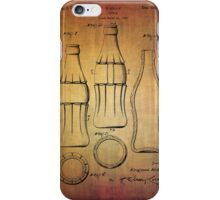 Coca Cola bottle vintage patent 1937 with grunge texture iPhone Case/Skin
