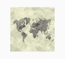 World Map Black Vintage Unisex T-Shirt
