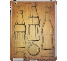 Coca Cola bottle vintage patent 1937 with grunge texture iPad Case/Skin