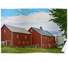 Red Barn In Charlotte Poster