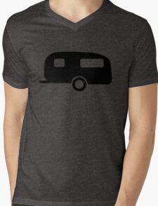 Camping Caravan Mens V-Neck T-Shirt