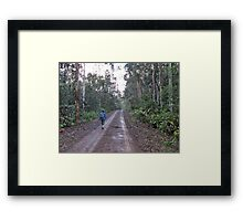 Walking an old Country road Framed Print
