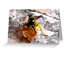 Wasp at work Greeting Card