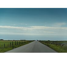 Open road in Bryne, Norway Photographic Print