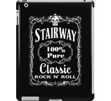BOTTLE LABEL - STAIRWAY - solid white iPad Case/Skin