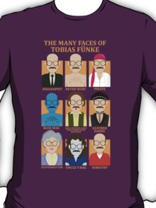 The Many Faces of Tobias Fünke T-Shirt