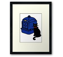 Kitty Who and the T.A.R.D.I.S Framed Print