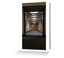 2nd floor corridor Greeting Card