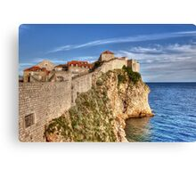 Old Town Wall, Dubrovnik Canvas Print