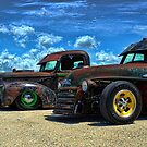 1941 Ford Pickup and 1948 GMC Pickup Truck Rat Rods by TeeMack
