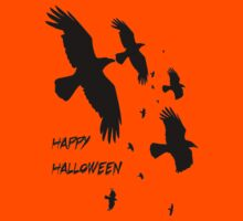 Happy Halloween Murder of Crows Kids Clothes