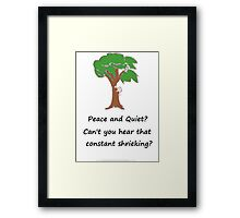 Dan Gerous in the Woods Framed Print