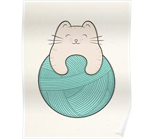 knit cat Poster