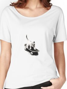 Skater Cat Women's Relaxed Fit T-Shirt