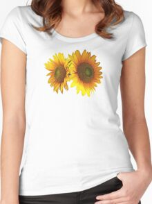 Sunflowers - I've Got Your Back Women's Fitted Scoop T-Shirt