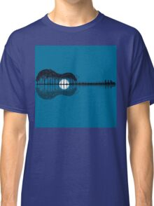 Trees sea and the moon turned guitar Classic T-Shirt