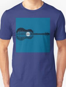Trees sea and the moon turned guitar T-Shirt