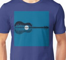 Trees sea and the moon turned guitar Unisex T-Shirt