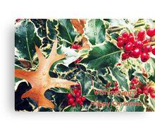 holly christmas Canvas Print