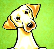Yellow Lab Listen Up Green by offleashart