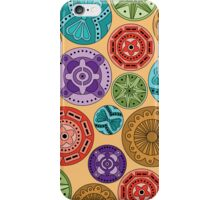 Circular abstract multi color pattern (iphone case) iPhone Case/Skin